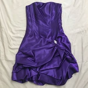 Jessica McClintock Violet Homecoming Dress EUC